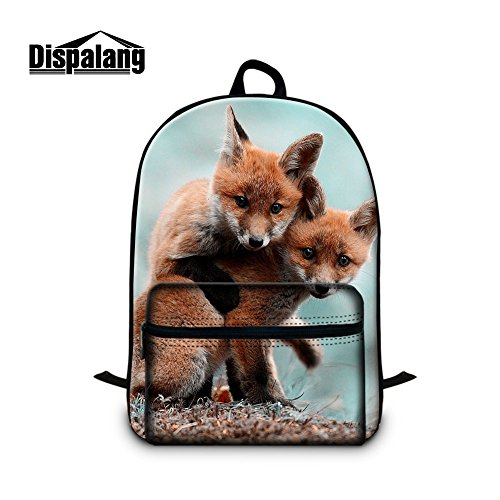 Generic Fox School Backpack with Laptop Compartment for Children Outdoor Back Pack for Youth