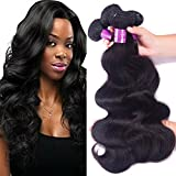 Brazilian Virgin Hair Body Wave 4 Bundles Unprocessed Remy Human Hair Weave Natural Black Color 24 26 28 30 Inch For Sale