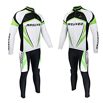 f57ecd0ee PreAdvisor(TM)ARSUXEO Quick Dry Wear Clothing Sets Men s Outdoor Sports Road  Bike Bicycle Long Sleeves Cycling Jersey Top + 3D Gel Paded Pants  ...