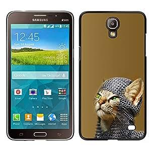 A-type Arte & diseño plástico duro Fundas Cover Cubre Hard Case Cover para Samsung Galaxy Mega 2 (Chainmail Guerrero Gato)