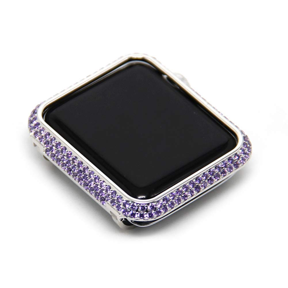 JIANGJIE for Iwatch/Apple Watch Series 3/2/1 Protection Frame with Rhinestone Diamond Metal Case Bezel,38mm,42mm,38MM