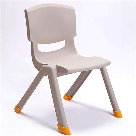 MQQ Engrosamiento Taburete de plástico heces bebé hogar Mesa y sillas jardín de Infantes for niños Silla Silla de bebé Antideslizante de los niños apilables de Respaldo (Color : Marrón): Amazon.es: Hogar