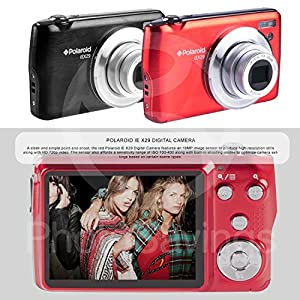 Polaroid iEX29 18MP 10x Digital Camera (Red) and Accessory Bundle W/ 16GB + Card Reader + Case + Xpix Tripod + Fiberitque Cleaning Cloth + Deluxe Starters Kit by Photo Savings