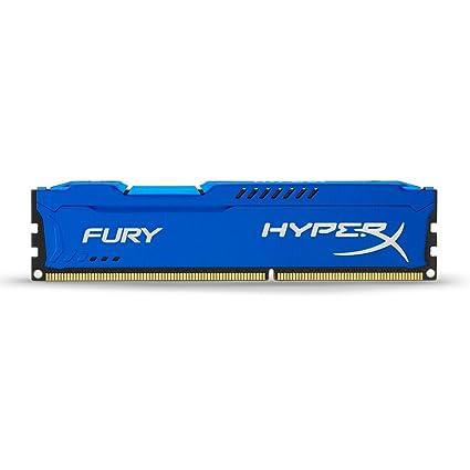 HyperX Fury - Memoria RAM de 4 GB (1600 MHz) DDR3 Non-ECC CL10 DIMM, Color Azul