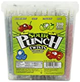 Sour Punch Twists-4 Flavor Tub, 72.96-Ounce