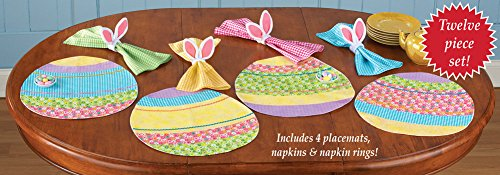 Easter Egg Floral Placemat Set