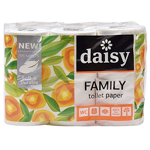 2-layered toilet paper Daisy Family Soft 9,6cm wide, 21m/roll 12rolls/pack