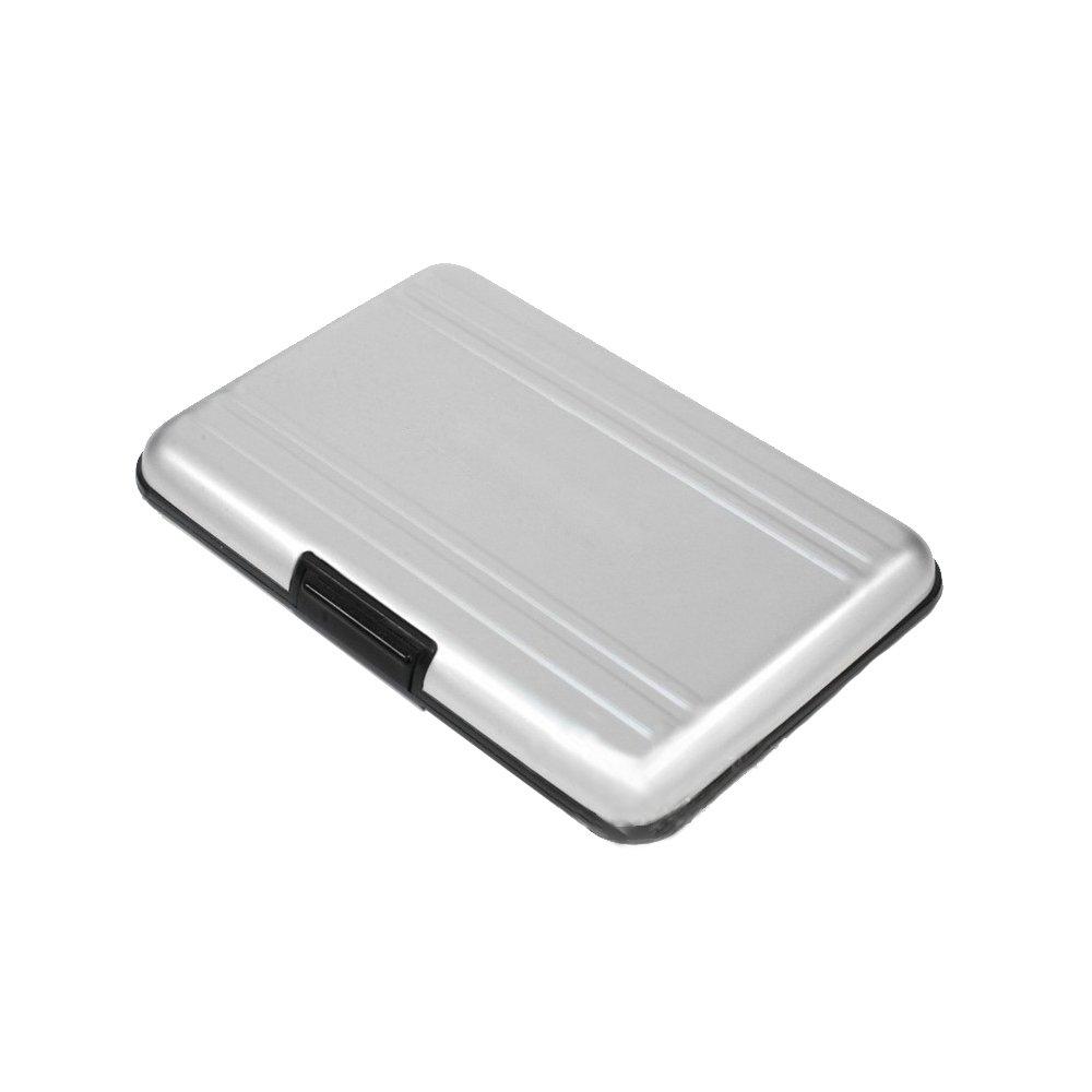 LU2000 Scheda di memoria della custodia della carta di memoria anti-shock Scheda protettiva per schede SD / SDHC / SDXC - AL1-SD, 16 slot per schede di memoria - Argento
