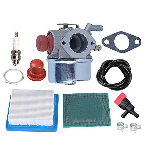 Panari 640004 640117B Carburetor + Air Filter Tune Up Kit for Tecumseh OHH45 OHH50 OHH55 OHH60 OHH65 Engine Lawn Mower 640014 640025 (640340 Carburetor Tecumseh)