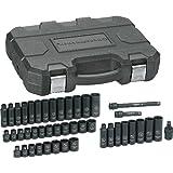 GearWrench 84916 3/8-Inch Drive Impact Socket Set SAE/Metric, 44-Piece