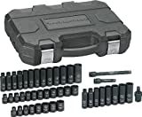 GearWrench 84916 3/8-Inch Drive Impact Socket Set SAE/Metric, 44-Piece