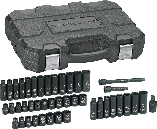 GEARWRENCH 84916 3/8-Inch Drive Impact Socket Set SAE/Metric, 44-Piece (Adapter Gearwrench Metric Drive)