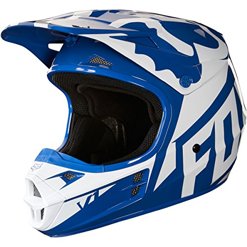 2018 Fox Racing V1 Race Helmet-Blue-XS by Fox Racing