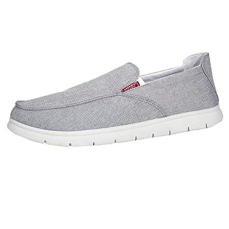 LuckyGirls Zapatos para Hombre Zapatillas de Casual Calzado de Planos Transpirables Zapatos Informales Bambas para Perezoso