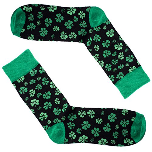 Men's Clover Novelty St. Patrick's Day Socks - Green