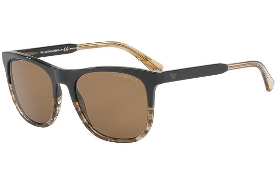 Emporio Armani EA4099 Sunglasses Brown w Polarized Brown Lens 556783 EA 4099 b4294a0da4
