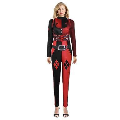 CHICTRY Unisexe Adulte Déguisement Femme miraculeux LadyBg Costume Cosplay  Combinaison Body pour Adulte Halloween Carnaval soirée Noir L XL   Amazon.fr  ... b85a1689de1
