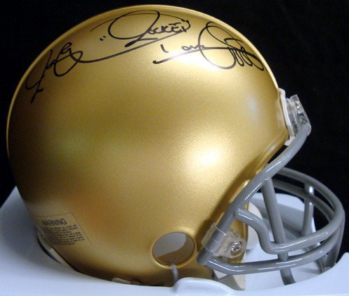 (Raghib Rocket Ismail Signed Notre Dame Fighting Irish Replica Mini Helmet TriStar Stock #28853 - Autographed NCAA College Football Helmets)
