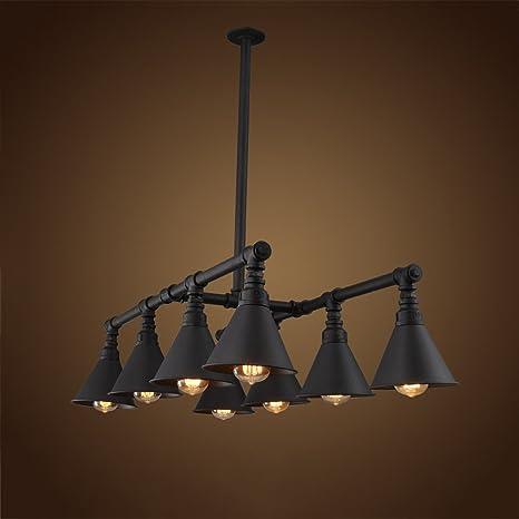 Hines Lampadari per tubi d\'acqua in ferro retrò vintage a 8 luci ...