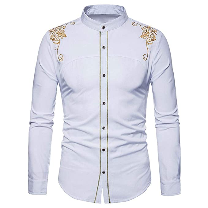 newest 6a21c 55f4b Camicia Uomo Camicie Manica Lunga T-Shirt Top ASHOP ...