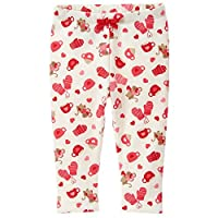 Gymboree Baby Girls' Mouse Print Cozy Legging, Red Zone, 3-6