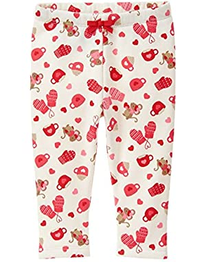 Baby Girls' Mouse Print Cozy Legging
