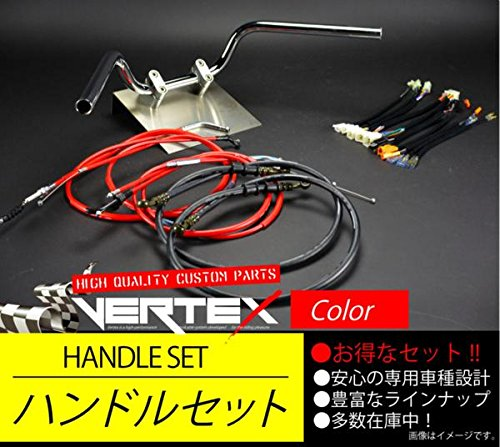 ST250 アップハンドル アップハンドル セット 03- セミしぼりアップハンドル 11cm レッドワイヤー B075HG4GDL