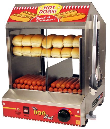 Paragon 8020 Hot Dog Hut Steamer Merchandiser for Professional Concessionaires Requiring Commercial Quality & Construction ()