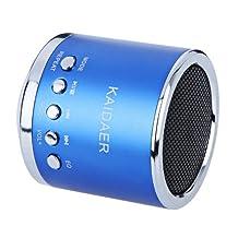 Kingzer Mini enceinte Lecteur MP3/Micro SD/TF AMPLIFICATEUR SON Audio Bleu roi