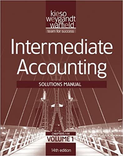Amazon solutions manual v1 ta intermediate accounting 14th amazon solutions manual v1 ta intermediate accounting 14th edition 9781118014639 donald e kieso jerry j weygandt terry d warfield books fandeluxe Gallery