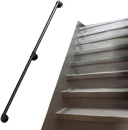 Pasamanos Industrial for Escalera | Barandillas for techos escaleras for interiore exteriore | Balaustradas Reposabrazos Seguridad para escaleras | Hierro Forjado de Metal Negro (Longitud 30~600 c: Amazon.es: Hogar