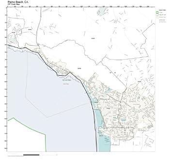 Amazon Com Zip Code Wall Map Of Pismo Beach Ca Zip Code Map