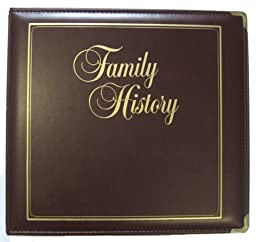 Executive Family History Binder, Burgundy
