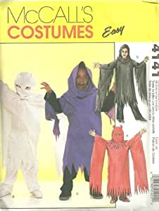 Childrens/Boys Ghost Costumes McCall's Sewing Pattern 4141 (Size 3-8)