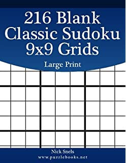 Blank Sudoku One Hundred Blank 9x9 Sudoku Grids Large Print 100