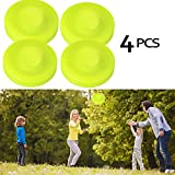 Flying Disk Zip Chip Disc Clips Zipchip Pocket Frisbee Pack for Men Kids Mini Pocket Flexible Soft New Spin in Catching Ultimate Disc Game Beach Outdoor Toys (4Pcs)
