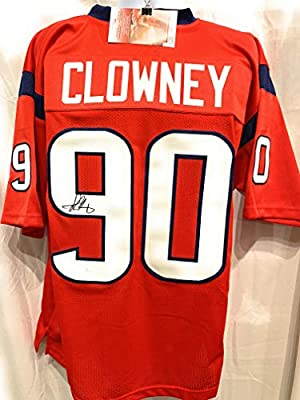 Jadeveon Clowney Houston Texans Signed Autograph Red Custom Jersey JSA  Witnessed Certified da1d77755