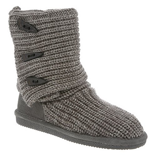 Gray Tall Women's Bearpaw Knit Boot BxRSwpq4On
