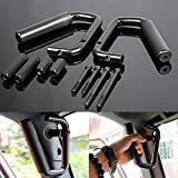 Black Grab Bar Front Grab Handle for Jeep Wrangler JK Sahara Sport Rubicon X & Unlimited 2/4 Door 2007 2008 2009 2010 2011 2012 2013 2014 2015 Pair