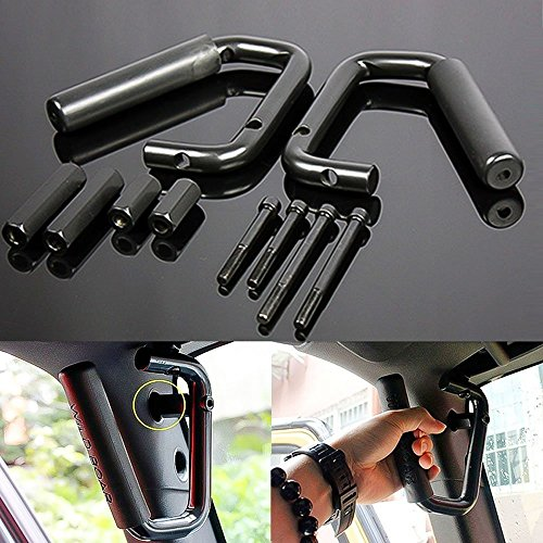 Black Grab Bar Front Grab Handle for Jeep Wrangler JK Sahara Sport Rubicon X & Unlimited 2/4 Door 2007-2017 Pair