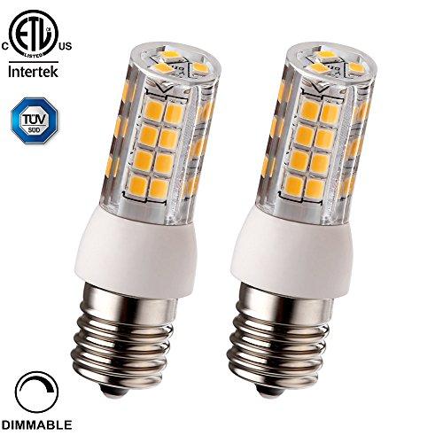 2 PACK 3.5W (40W Equiv.) Dimmable E17 LED Light Bulb, 400...