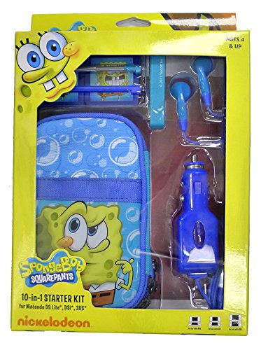Lite Accessory Kit - Nickelodeon SpongeBob 10 in 1 Kit for DS and DS Lite
