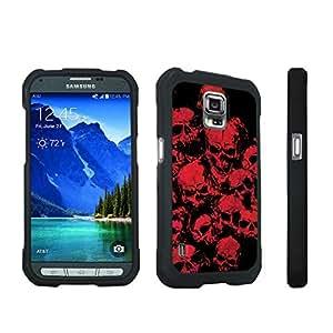DuroCase ? Samsung Galaxy S5 Active SM-G870A Stylish Hard Case Black - (Red Skull)