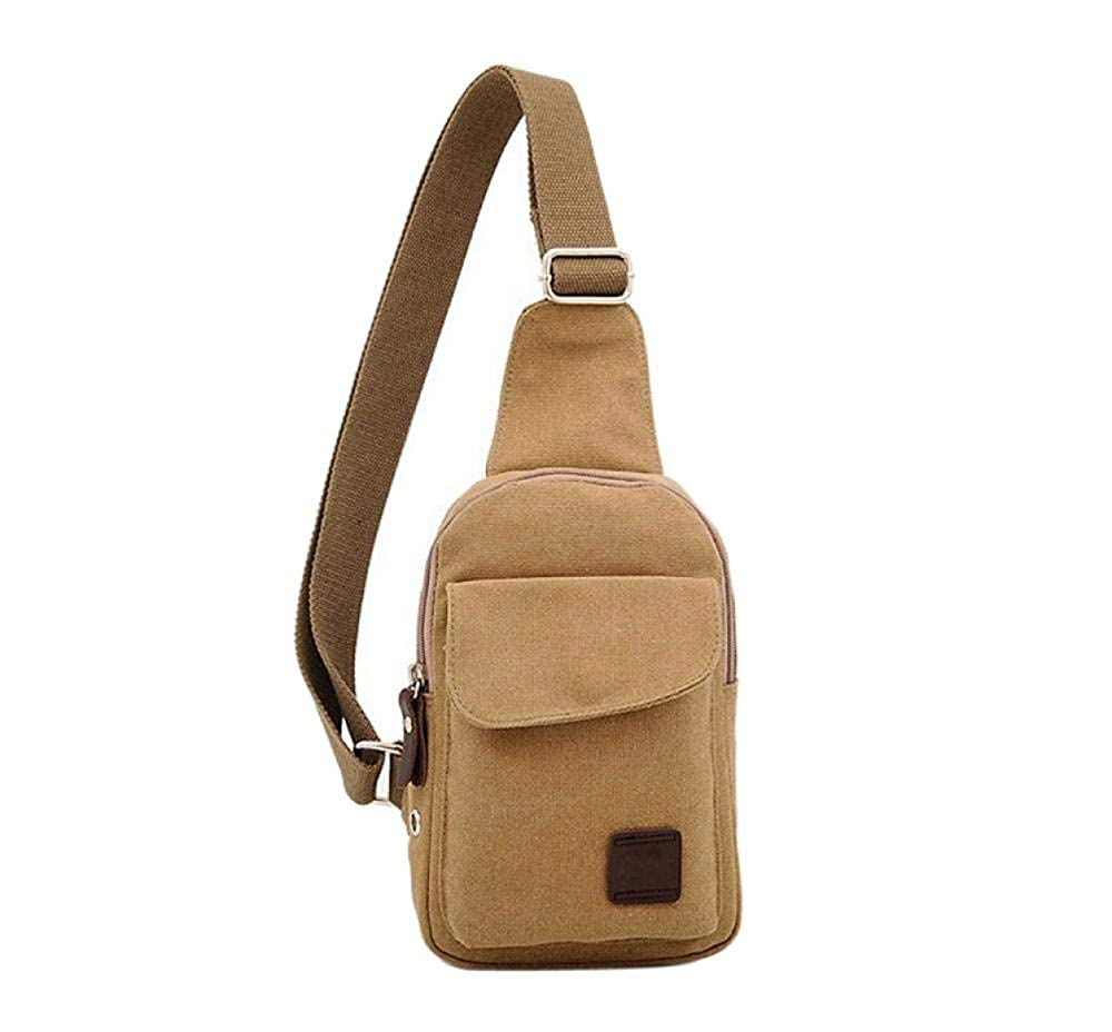 Mens Casual Small Canvas Vintage Shoulder Crossbody Bicycle Bag Messager Bags