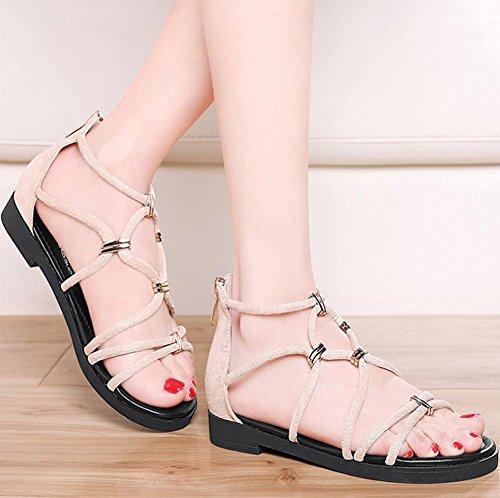 RuiSommer Sandalen weiblichen Fischkopf mit flachen Sandalen und Pantoffeln Dame Sandalen Studenten Sandalen meters white
