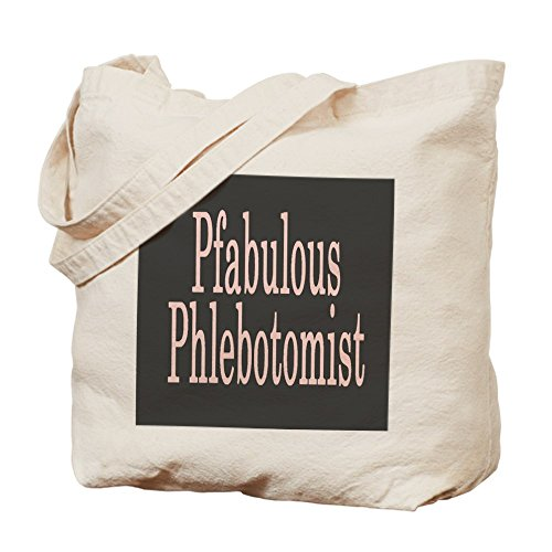 CafePress–pfabulous PHLEBOTOMIST–Gamuza de bolsa de lona bolsa, bolsa de la compra