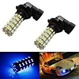 iJDMTOY 68-SMD H10 9145 LED Fog Light Replacement Bulbs, Ultra Blue