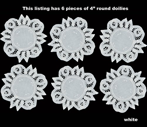 Battenburg Doily - Creative Linens 6PCS 4