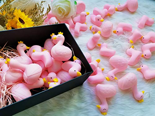 Sohapy Large Rubber Set Baby Shower Rubber Ducks Squeak Fun Baby Yellow Rubber Bath Toy Float Fun Decorations for Shower Birthday Party Favors Cupcake Topper Carnival Game Gift (50Pcs Swans&Ducks)