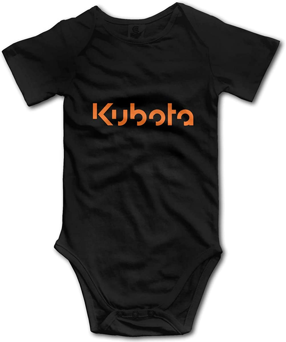 0-2T POP-Front Kubota Tractor Logo Funny Infant Jumpsuit Romper Baby Layette Bodysuit Kids One-Piece